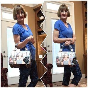 Nicole Lee Bags - Ara Loves Coffee - Classic Chic Square Handbag